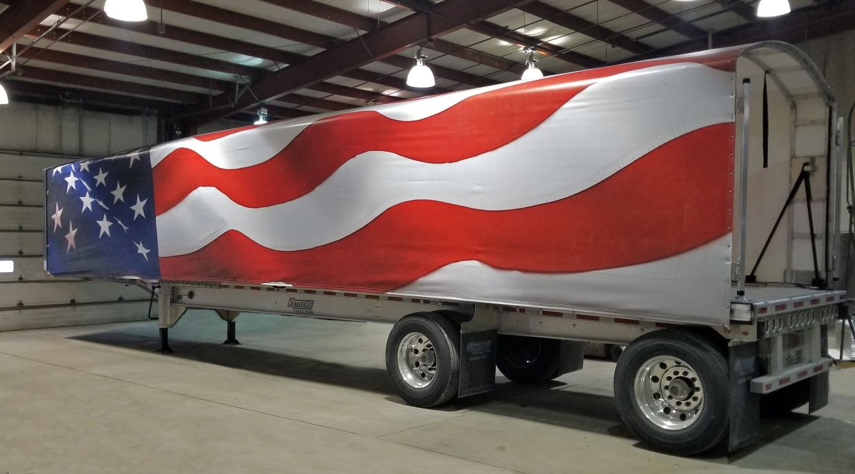 wagonmaster american flag tarp